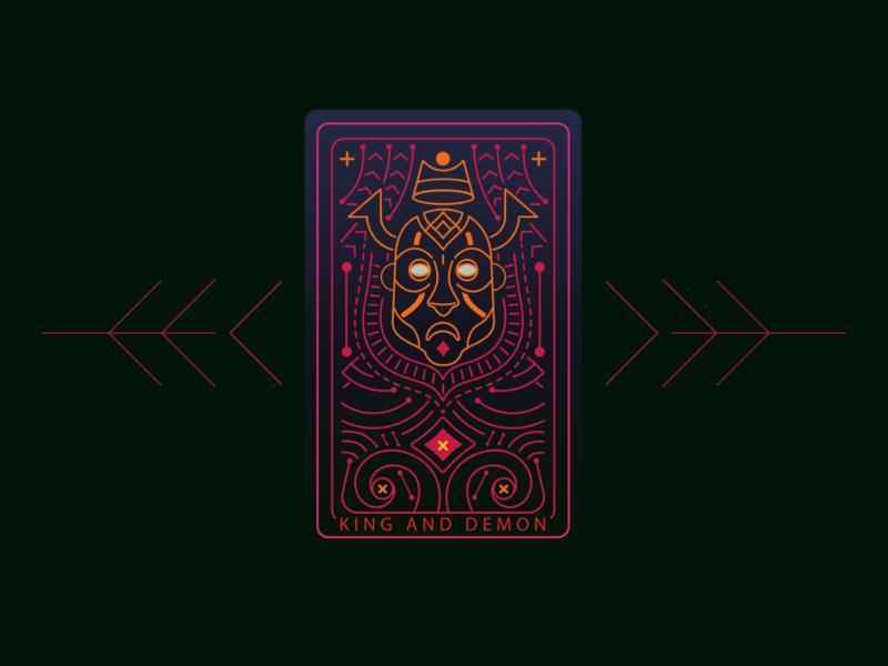 King&Demon poster design postcard illustration concept-art vector game-art