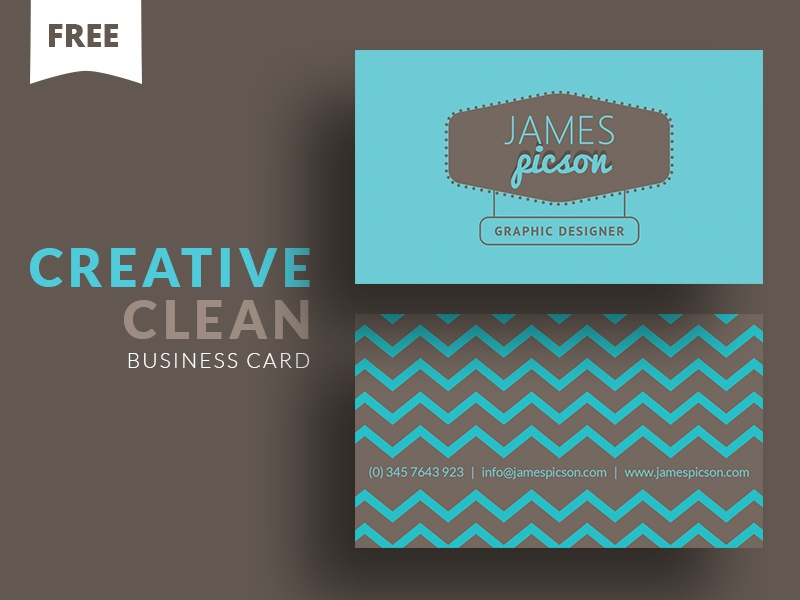 Free - Creative Clean Business Card by Cooledition Designs - Dribbble