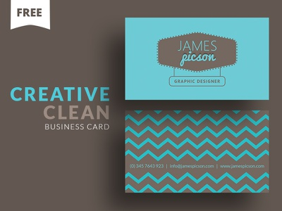 Free - Creative Clean Business Card business card free business card business card freebie cooledition template photoshop free freebie