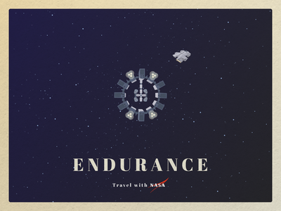 Travel with NASA interstellar spaceship weeklywarmup travel nasa poster postcard space dribbbleweeklywarmup