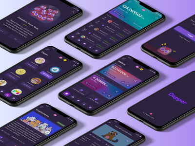 Cryptocurrency wallet app wallet ui dark theme decentralized app crypto wallet crypto banking app blockchain finance fintech app cryptocurrency mobile ui wallet