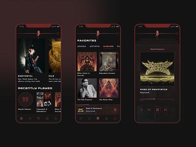 Alternative music streaming service spotify music streaming music streaming app music player music app ui application mobile ui dark ui dark theme ui design