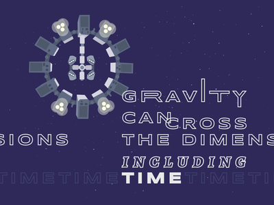 Gravity sci-fi spacecraft travel lettering illustration interstellar google fonts space typography