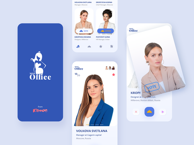 Miss Office app mobile design fashion figma branding application ui mobile ui ui design