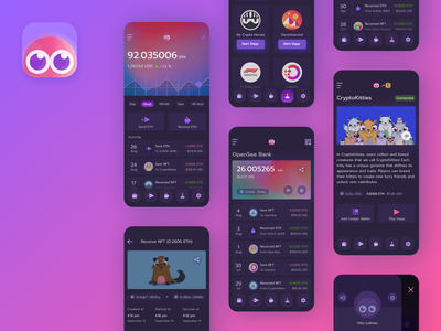 Dapper wallet app cryptocurrency app dark app application wallet ui fintech app fintech finance blockchain crypto wallet crypto banking dark ui wallet app wallet