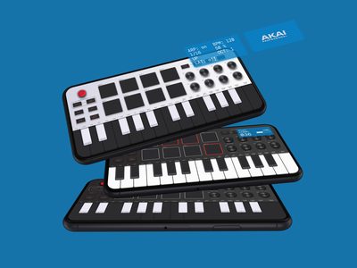AKAI MPK mini synth app app design app piano keyboard vsti music app synthesizer synth ui design mobile ui