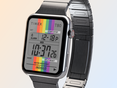 Timex T80 tribute clock app figma mobile ui ui design watches timex watchos watch