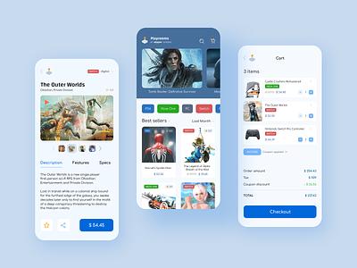 Playrooms app ecommerce app ecommerce amazon app gaming mobile ui ui design