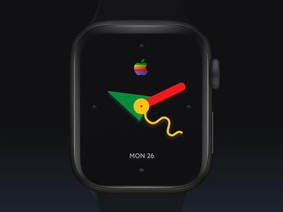 Apple Watch 1995 tribute bauhaus ui design app design mobile ui apple watch watchos applewatch dark ui watch ui