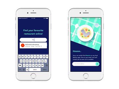 Aggregator concept ux design restaurant deliveroo foodora uber app delivery aggregator food
