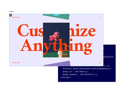 Customize Anything - Elementor Code Customization illustration visualization custom code customization design branding wordpress website builder web creator elementor