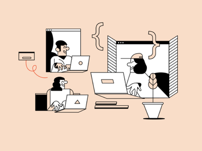 Illustration of Elementor Built for Everyone logo ui branding illustration design wordpress website builder web creator elementor