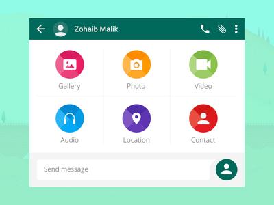 Material Chat Widget ux ui app avater material color icon widget