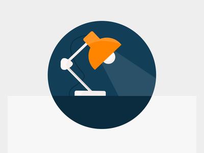 Material Lamp Icon  design illustration color icon material ux ui