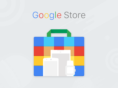 Material icon Google Store material button app android tabs ui color icon google profile lollipop illustrations