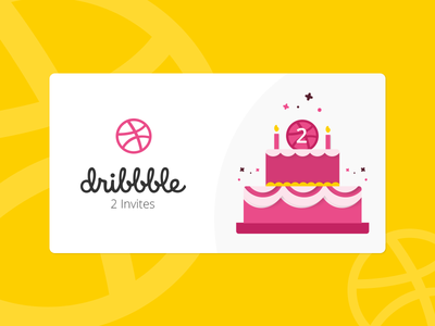 2 Dribbble Invitations waiting pakistan invites invitations icon dribbble