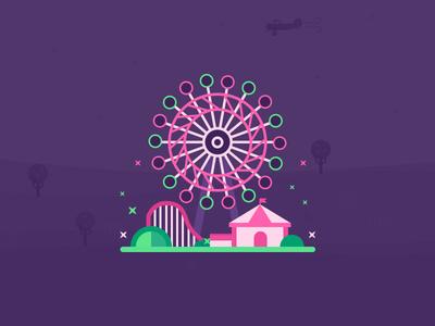Sky Ride Cedar Point Illustrations illustrations ui color icon google material point ceder ride sky