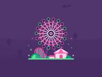 Sky Ride Cedar Point Illustrations