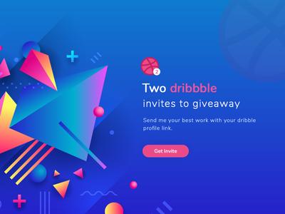 2 Dribbble Invites thanks invite invitation home page dribbble invite design debut