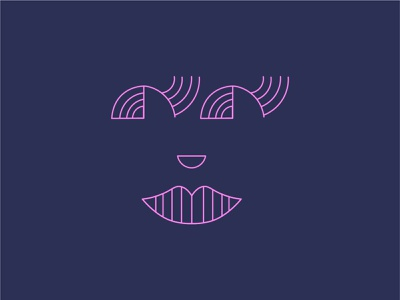 Lines ui graphic design design pictogram icon illustraion woman face lineart line simple
