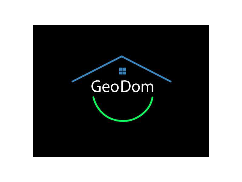 Geo Dom Logo house home graph design simple line earth contest brand logo