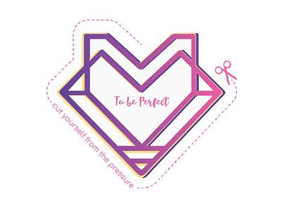To be Perfect logo perfection logo mark graphic design design sticker