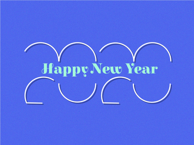 2020 design dribble hidden shape lines typography simple creation happy new year new years 2020 illustration