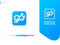 GOGO Delivery Food App Icon Design