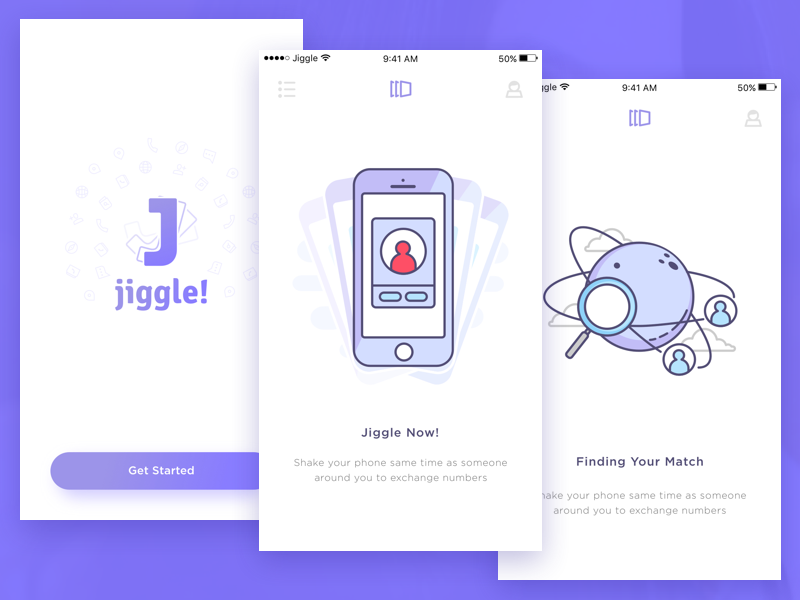 Exchange Phone Number Apps by Sebo on Dribbble