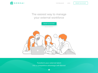 Bonsai Landing Page Redesign Concept