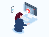 Time Management App Illustration app website isometrics manage time management