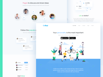 Gobup Red Social Landing Page