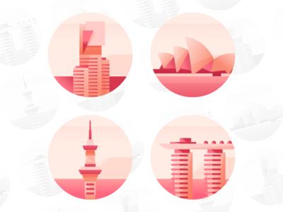 City Icons marketing communication australia singapore contact us communications company branch flat icon best cities in the world city icon