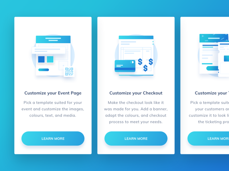 Features Card icon set walktrough ticket booking onboarding features ticket iconspace landing page line icon design vector icon illustration
