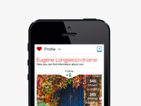 New WHP web interface for mobile phone — profile page