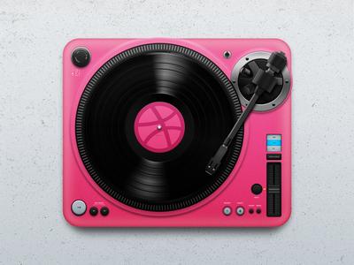 Hello Dribbble! tempo tonearm mixing sound dj spin music turntable player vinyl