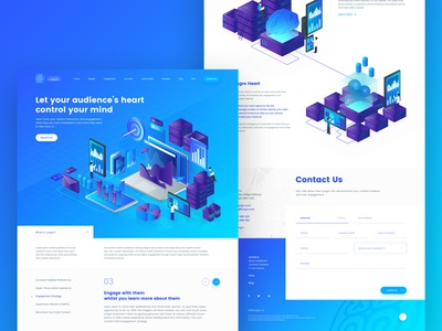 Landing Page for Product Analytics A.I illustration icon isometric artificial intelligence landing page