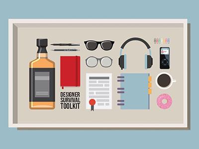 Designer Survival Toolkit toolkit survivor design tools tools designer vector