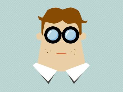 Client From Hell avatar character geek nerd illustration vector