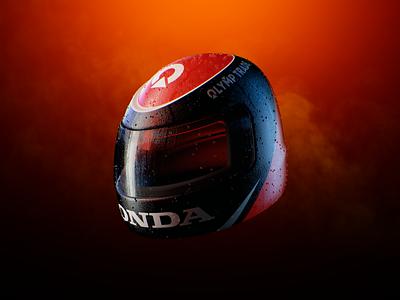 Helmet branding 3d icon 3d illustration tournament helmet model redshift cinema 4d render 3d