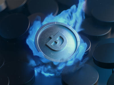 Coin flame 3d coin coin 3d illustration render motion design design cinema 4d 3d c4d