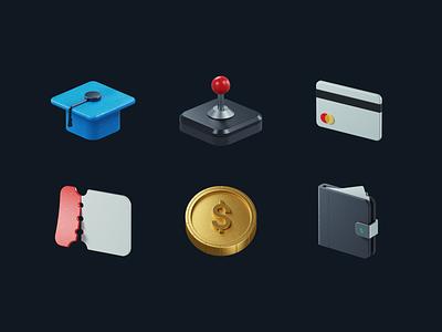 3D Icons 3d illustration 3d design design icons 3d render 3d icons 3d