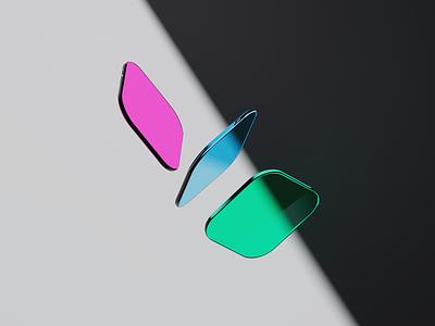 Shapes 3d graphics after effects composition gradients glass design cinema 4d c4d render 3d illustration 3d design 3d