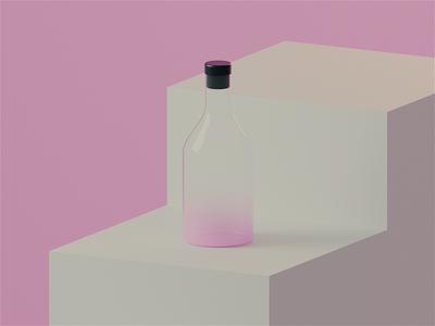 Bottles clean products after effects c4d 3d illustration bottles cinema 4d visualization 3d render 3d