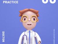 3D cartoon character design exercise