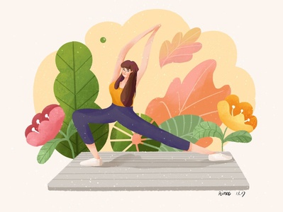 illustration for yoga