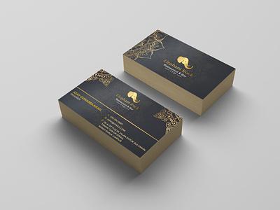 Elephant Rock business card visual design logo rock elephant businesscard