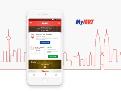 MyMRT App home screen uxdesign uidesign app design mrt
