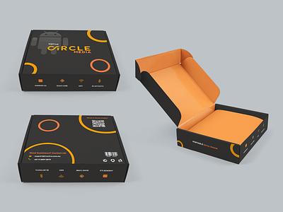 Circle Media package design visual design box design packagedesign box