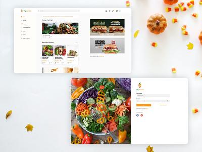 Vegconnect web design diet vegetarian veganism vegan food vegan web portal web design